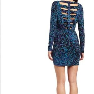 BCBGeneration Long Sleeve Cutout Back Dress Size S